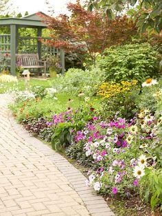 Spring flowers border