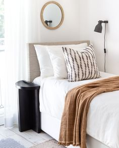 This faded black and sandy beige pillow will add beautiful graphic impact to your home. The abstract stripe has a hand-blocked look, reminiscent of a Rorschach test, and will deliver a layer of artisanal flair with a modern edge. Beige Pillows, Perfect Pillow, Getting Cozy, Soft Furnishings, Guest Room, Charcoal, New Homes, Sofa, Rorschach Test