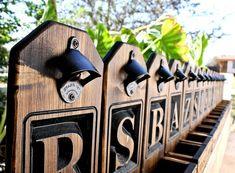 Set of Personalized Beer Bottle Opener Cap Catcher Man Custom Caps, All Beer, Beer Bottle Opener, Gift Wedding, Groomsman Gifts, Groomsmen, Catcher, Man Cave, Barware