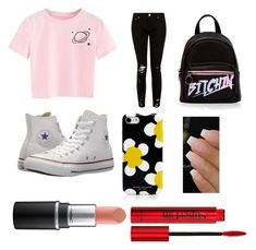 """Back to school"" by zowie-bowie on Polyvore featuring Converse, Marc Jacobs and Smashbox"