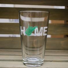 West Virginia Pint Glass | Green/White