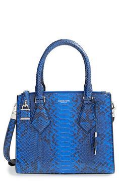 2e6d77956172 Michael Kors  Small Casey  Genuine Python Satchel