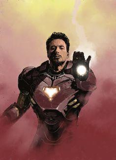 Tony Stark - Iron Man by Dave Seguin *