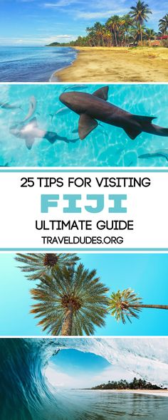The islands that make-up Fiji are known for their honeymoon worthy status, as they are a paradise for luxury travelers and those looking to stay at in an over water bungalow. This Fiji travel guide includes 25 practical tips to consider when planning your trip to paradise. Travel in Fiji. | Travel Dudes Travel Community #Fiji #Honeymoon #LuxuryTravel #TravelTips #Travel