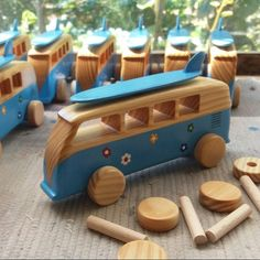 Wooden Bus Toy Personalized Wooden Car Wooden Toy by emanuelrufo