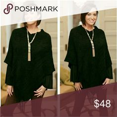 Crochet Fringe Poncho Super cute and soft!  Paird great with leggings or skinny jeans. Sweaters Shrugs & Ponchos