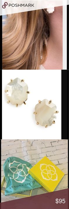 Kendra Scott Morgan Stud Earrings in Ivory Pearl!! SOLD OUT IN STORES!!! Beautiful and timeless! Kendra Scott Morgan Stud Earrings in Ivory Pearl ♥️♥️♥️ New in Box 💋💋💋 Kendra Scott Jewelry Earrings