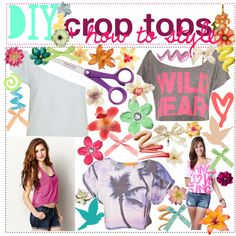 """DIY crop tops + how to style ♥"" by tips-by-annie on Polyvore"