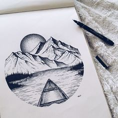 Amazing Pen and Ink Cross Hatching Masters Edition Ideas. Incredible Pen and Ink Cross Hatching Masters Edition Ideas. Cool Art Drawings, Pencil Art Drawings, Art Drawings Sketches, Ink Illustrations, Drawing Art, Circle Drawing, Circle Art, Tattoos Motive, Natur Tattoos