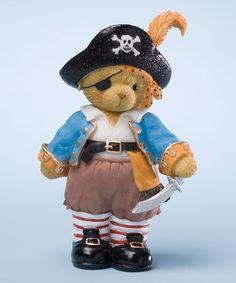 Look what I found on #zulily! Blue Pirate Bear Figurine #zulilyfinds