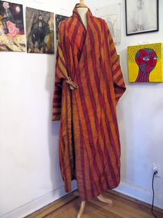 Extremely Rare Vintage Hand Woven Gho Robe from Bhutan. $250.00, via Etsy.