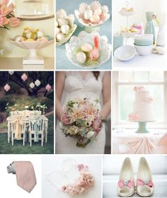 Easter wedding inspiration board.  www.gracetheday.com