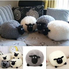 Plush Toys Cute Stuffed Soft Sheep Cushion Character Kids Baby Gift Doll Pillow,You can find Sheep and m. Sewing Stuffed Animals, Stuffed Toys Patterns, Sheep Crafts, Animal Knitting Patterns, Fox Toys, Pillowcase Pattern, Fabric Toys, Cushions, Pillows