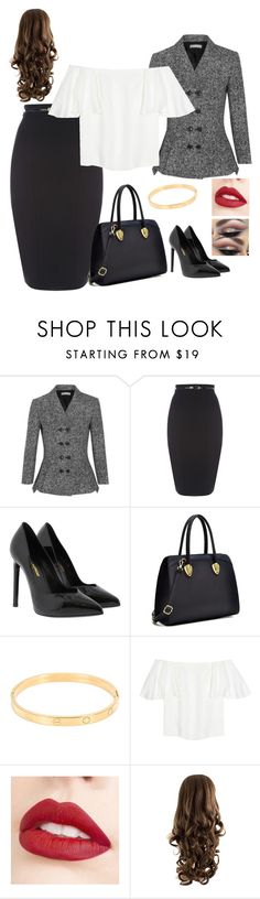 """""""The Black Lovers"""" by yolie-cathey on Polyvore featuring Michael Kors, Yves Saint Laurent, Caprice, Cartier, Valentino and Jouer"""