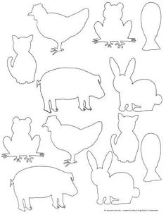 Fun for kids to color or transf… Free printable farm animal silhouette templates. Fun for kids to color or transform into any craft or art project.