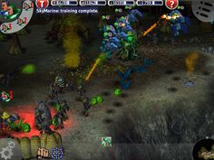 Marine Siege RTS - Marines attack from above. This is the iPad version.
