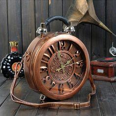 ==> [Free Shipping] Buy Best New Round Shape Bag Novelty True Alarm Unique Nobel Time Machine Vintage Workable Amliya Clock Handbag Use True Pin Up Retro Online with LOWEST Price | 32797854213