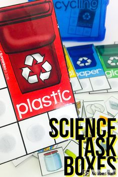 Science Task box kit comes with 16 different task boxes related to science learning standards.   There are a ton of tasks to choose from.  TEACCH, work boxes, task cards