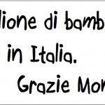 Un milione di bambini poveri in Italia