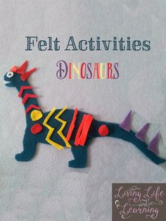 Craft activities for kids - Make Your Own Felt Dinosaurs – Craft activities for kids Dinosaur Activities, Dinosaur Crafts, Craft Activities For Kids, Projects For Kids, Crafts For Kids, Animal Activities, Baby Activities, Felt Projects, Animal Crafts