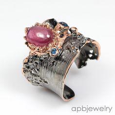 Handmade Jewelry Ruby 925 Sterling Silver Ring Freesize/R56097 - http://jewelry.goshoppins.com/fine-jewelry/handmade-jewelry-ruby-925-sterling-silver-ring-freesizer56097/