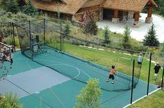 sports court batting cage