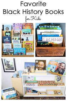 Recommendations of Black history books for toddlers through elementary-age kids; nonfiction and fiction books for a Black history unit - Living Montessori Now History Books For Kids, Black History Books, History Activities, Learning Activities, Sand Writing, Alphabet Phonics, Book Baskets, Toddler Books, Inspirational Books