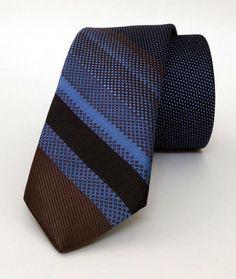 Blue Mens Tie 6 cm (2,36 #handmadeatamazon #nazodesign