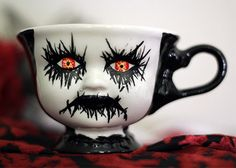 Hand-painted Ceramic Corpse Mug   20 Creepy Things You Can Find On Etsy