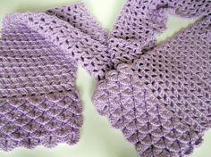 Crocodile Stitch Crochet Scarf many colors by CustomBearHugs, $35.00
