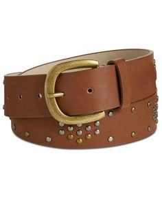 WIDE ELEGANT WOMEN BROWN BELT WITH SILVER STONES DESIGN AND THIN BUCKLE  S M L