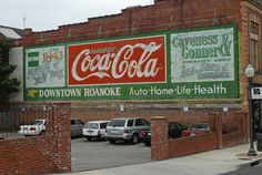 old store signs in roanoke virginia | Downtown Roanoke – Drink Coca-Cola – Roanoke, VA – Fading Ad ...