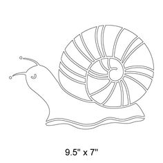 Snail Wall Stencil for Flower Wall Mural or Bug Theme Kids Mural