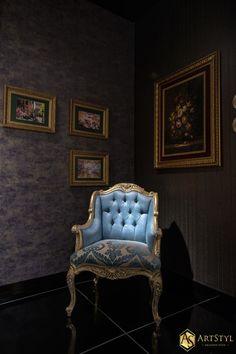 Fotel pikowany stylowy Narrista