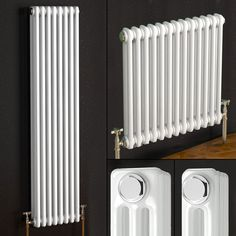 Vertical or Horizontal Traditional Cast Iron Style Column Bathroom Radiators in Home, Furniture & DIY, Bath, Towel Rails Vertical Radiators, Column Radiators, Bathroom Radiators, Kitchen Radiators, Yorkshire Cottages, Traditional Radiators, Vertical Or Horizontal, Towel Rail, Heating And Cooling