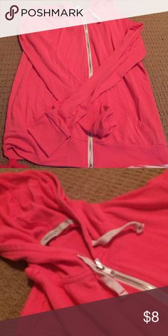 Abbot Main- Venice Beach zip up hoodie Bright pink, worn once, perfect condition clean Tops Sweatshirts & Hoodies