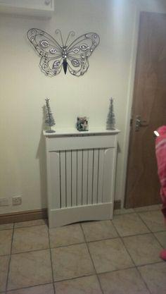 Small radiator cover . White .