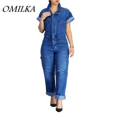 boutiquefeel / Plus Size Jeans Casual Jumpsuit Bodycon Jumpsuit, Jeans Jumpsuit, Casual Jumpsuit, Jumpsuit With Sleeves, Denim Overalls, White Jumpsuit, Denim Playsuit, Adidas Jumpsuit, Summer Jumpsuit