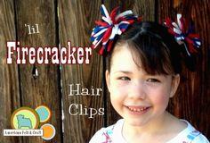 Little Firecracker Felt Hairclips Free Tutorial by American Felt and Craft Easy Felt Crafts, Kid Crafts, Blue Crafts, Felt Hair Clips, Hair Supplies, Felting Tutorials, Flower Tutorial, Felt Tutorial, Firecracker