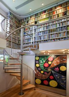 """I love this room. Books, books and more books!!! Yes just like in the movie """" beauty and the beast""""!"""