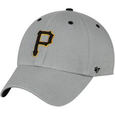 Pittsburgh Pirates '47 Crestone Clean Up Adjustable Hat- Gray - $23.99