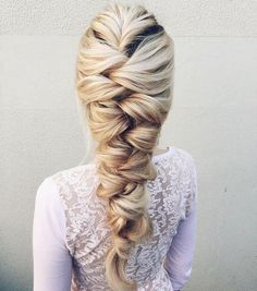 A romantic twist on the Elsa braid