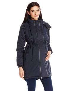 9c84f7c3e85b2 JoJo Maman Bebe Women's Maternity 2-In1 Padded Parka with Removable Panel  at Amazon Women's Clothing store: