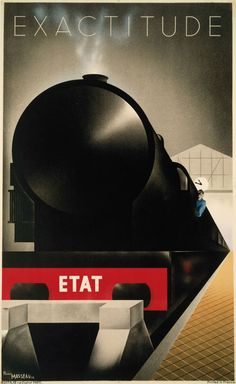 Pierre Fix-Masseau (1905-1994). Exactitude, 1932. Color Lithograph.    Minneapolis Institute of Arts, the Modernism Collection, gift of Norwest Bank Minnesota.