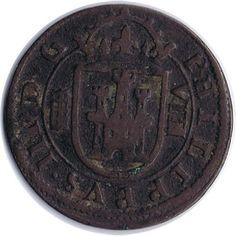 8 Maravedis 1607 Felipe III. Segovia. Cobre