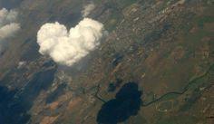 Nuvens formando um Coração