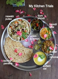 We have reached the fag-end of the state wise culinary journey and today, we are in Uttar Pradesh. Regular day-to-day lunch is the common dal-chawal-subzi-roti combination (Rice with dal, roti and … Veg Recipes, Indian Food Recipes, Asian Recipes, Vegetarian Recipes, Cooking Recipes, Healthy Recipes, Ayurveda, Falafel, Veg Thali
