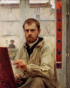 Autoportrait Emile Friant- he did like his windows, didn't he?