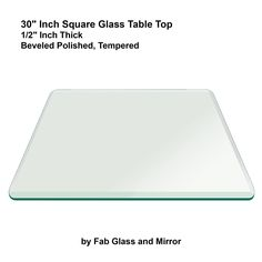Charming 30 Square Glass Table Top