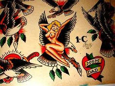 Eagles And Lady Sailor Jerry T is listed (or ranked) 23 on the list Sailor Jerry Tattoo Ideas Traditional Tattoo Pin Up Girl, Traditional Tattoo Flash Sheets, Traditional Tattoo Design, Pin Up Girl Tattoo, Tattoo Now, Pin Up Tattoos, Tatoos, Vintage Tattoo Art, Sailor Jerry Tattoo Flash